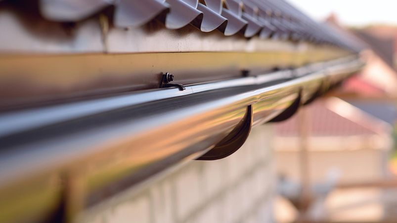 Clean guttering after cleaning from our team